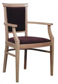 Amy Arm Chair (polished oak with foam)